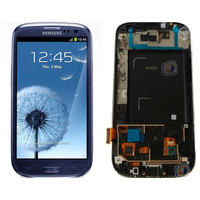 Tela Display Touch Screen Galaxy G S3 I9300 Siii Azul/branco