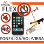 Cabo Flex Jack Fone Mudo Liga Volume Iphone 3g 3gs
