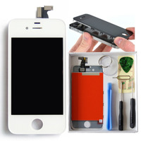 Tela Iphone 4 A1332 Lcd Touchscreen Branco + Kit Chaves