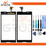 Tela Vidro Touch Sony Xperia C2304 C2305 + Kit Ferramentas