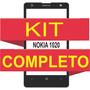 Tela Vidro Nokia Lumia 1020 + Kit Remoção + Cola Uv + Ferra.