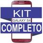 Tela Vidro Galaxy S4 Vermelho + Kit Remoção E Película ***