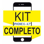 Tela Iphone 6 4.7 Preto + Removedor+ Moldura+ Cola Uv+ Ferr