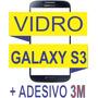 Vidro Samsung Galaxy Azul S3 I9300 + Dupla Face 3m + Cola Uv