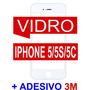 Tela Vidro Visor Iphone 5/5s/5c Branco Original + Adesivo 3m