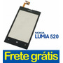 Tela Touch C/ Aro Nokia Lumia 520 100% Original + Garantia