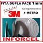 Fita Adesiva 3m Dupla Face 1mm Reparo Touchscreen (1 Metro)