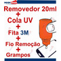 Kit Removedor + Cola Uv + Fio Remoção + Grampos