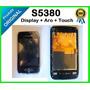 Frontal Com Display + Aro + Touch Y Gt-s5380 Wave Original