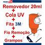 Kit Removedor + Cola Uv + Fio Remoção + Grampos + Dupla Face