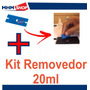 1 Lamina Plastica + Kit Removedor Cola Uv 20ml + 5ml Cola Uv