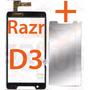Tela Touch Motorola Razr D3 Xt919 Xt920 + Película De Vidro