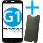 Tela Vidro Lente Moto G G1 Xt1032 Xt1033 + Adesivo Especial