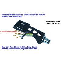 Headshell Shell Preto P/ Toca Disco Modelo Technics Sony