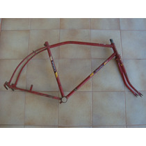 Quadro E Garfo Masculino Bicicleta Antiga Monark Dec 70.