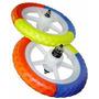 Roda Nylon Aro 12 Com Pneu Eva 3 Cores Dianteira E Traseira