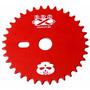 Coroa 36 Dentes Bicicleta Bmx Pro-x Caveira Vermelha