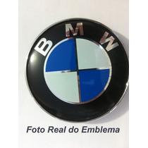 Emblema Bmw Capô Capu Tampa De Mala 82mm Dianteiro Trazeiro