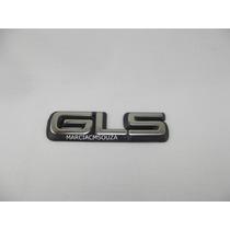 Emblema Gls Omega 94/95 Cromado Com Fundo Preto