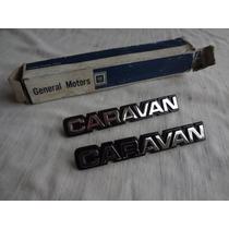 Emblema Paralama Opala Caravan 80/84 Em Metal Na Caixa Gm