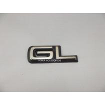 Emblema Gl Corsa E Omega 94/95 Cromado Com Fundo Preto