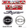 Emblemas Corsa Sedan Super Mpfi - 96 À 99 - Modelo Original