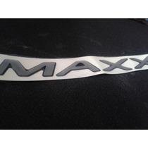 Emblema Adesivo Maxx Celta Corsa Prisma 2009/ Prata Resinado