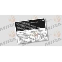 Adesivo Pressão Pneus Gm Vectra ( 205/55 R16 E 205/45 R17 )