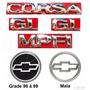 Kit Emblemas Corsa Sedan Gl Mpfi - 96 À 99 - Modelo Original