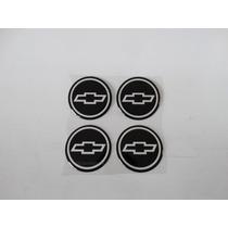 Jogo Emblema Adesivo Chevrolet Gm Roda Calota 48mm Resinado