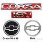 Kit Emblemas Corsa Sedan 16v - 1996 À 1999 - Modelo Original