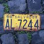 Placa Amarela Antiga Dianteira Al-7244 Salvador-ba