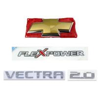 Kit Emblemas Da Tampa Traseira Vectra Novo 2.0 2007 A 2009