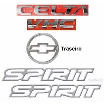 Kit Emblemas Celta Spirit - Até 2006 - Modelo Original