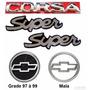 Emblemas Corsa Hatch Super - 1997 À 1999 - Modelo Original
