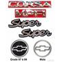 Emblemas Corsa Hatch Super Mpfi - 97 À 99 - Modelo Original