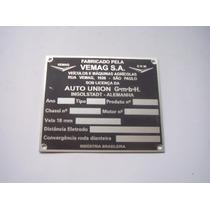 ! Emblema Cofre Vemag Dkw Belcar Tarjeta Plaqueta Chassis