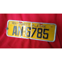 Placa Amarela De Carro Antigo Porto Alegre Volkswagen Fusca