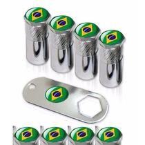 Kit Bico De Pneu Parafuso Placa Brasil Universal