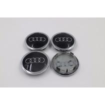 Calota Centro Roda Audi 68mm - Kit 4 Peças A3 A4 A5 A6 A7 A8