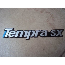 Emblema Cromado Linha Fiat Tempra Sx Com Fundo Preto
