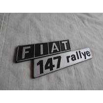 Emblema Fiat 147 Rallye Peça Original Fiat Confira