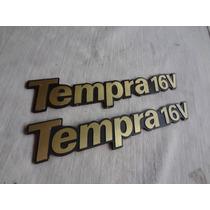 Emblema Tempra 16v Ouro 92 A 95 Peça Original Fiat
