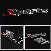 Logo De Grade Dianteira Universal Sports Em Vermelho E Pre