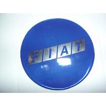 Emblema Calota / Botom Fiat Azul Resinada - Medida 58mm