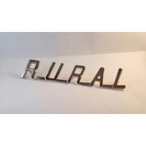 Emblema Rural Cromado Capo Ford