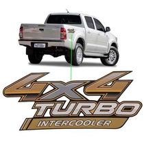 Emblema Adesivo 4x4 Turbo Intercooler Toyota Hilux 2014/,.,