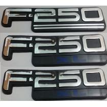 Kit Emblemas F-250 Xl F250 Xl Traseiro E Laterias + Brinde