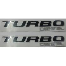 Dois Adesivos Turbo Diesel F-250 Ford Preto Prata + Brinde