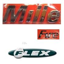 Kit Emblemas Fiat Uno Mille Fire Flex ..